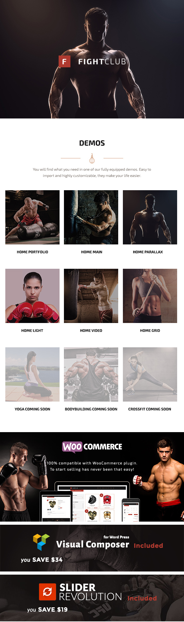 FightClub - Fight & Fitness Club WP Theme