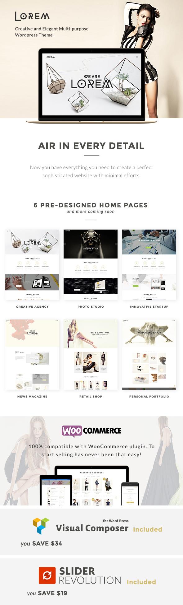 Lorem - Creative & Fashion Store Theme